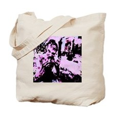 Pink zombie with logo Tote Bag