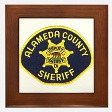 Alameda County Sheriff Framed Tile