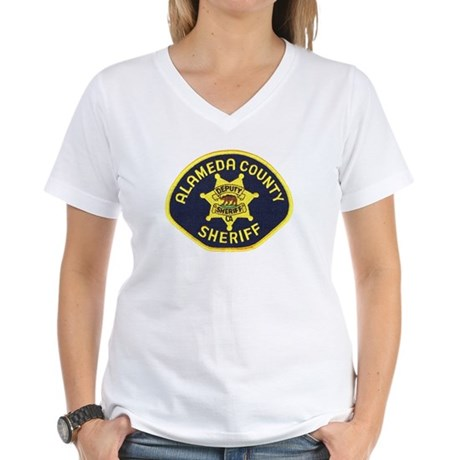 Alameda County Sheriff Women's V-Neck T-Shirt