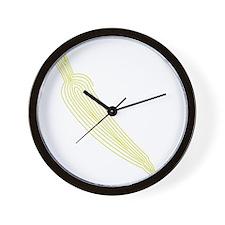 bb_rag_front_carrot Wall Clock