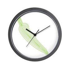 bk_rag_front_carrot Wall Clock