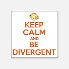 "KEEP CALM DIVERGENT Square Sticker 3"" x 3"""
