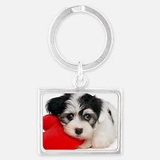 Lover Valentine Havanese Puppy Landscape Keychain