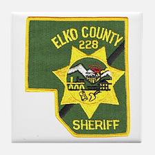 Elko County Sheriff Tile Coaster