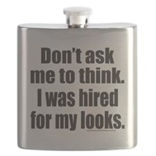 DONT ASK ME TO THINK T-SHIRTS AND GIFTS Flask