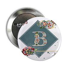 "Dreamland Monogram B 2.25"" Button"