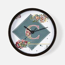 Dreamland Monogram C Wall Clock