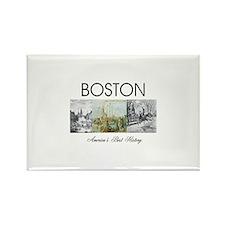 boston2 Rectangle Magnet