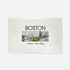 boston2 Rectangle Magnet