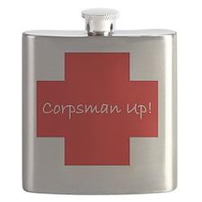 Corpsman Up Cross Flask