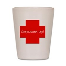 Corpsman Up Cross Shot Glass