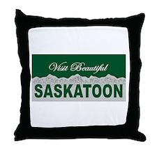 Visit Beautiful Saskatoon, Sa Throw Pillow