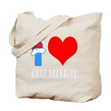 I Love Knee Boarding Tote Bag