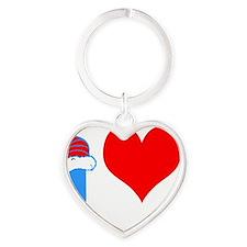 I Love Curling Heart Keychain