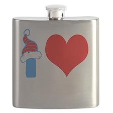 I Love Curling Flask