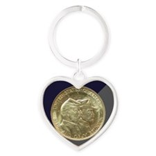 Battle of Gettysburg Half Dollar Co Heart Keychain