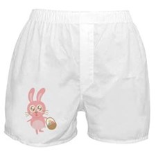 Cute bunny hopping with a basket of e Boxer Shorts