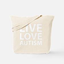 liveLoveAutism1B Tote Bag