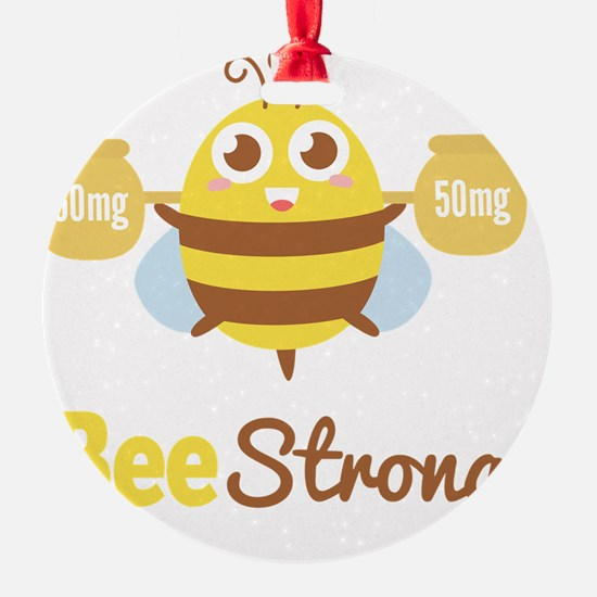 Bee strong in lifting weights beyon Ornament