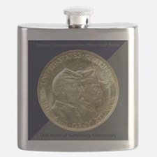 Battle of Gettysburg Half Dollar Coin Flask