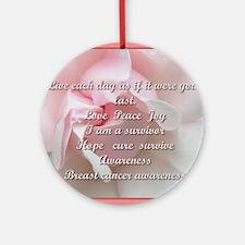 Breast cancer survivor Round Ornament