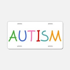 teachKidsAutism1B Aluminum License Plate