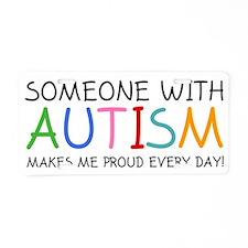 autismSomePr2A Aluminum License Plate