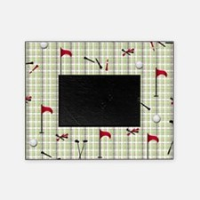 Hole in One Golf Equipment on Plaid Picture Frame