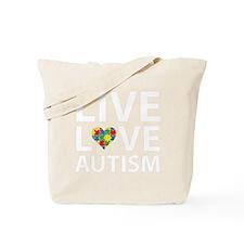 liveLoveAutism2B Tote Bag
