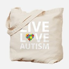 liveLoveAutism2B Tote Bag