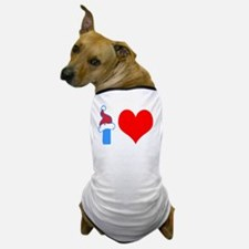 I Love Rock Climbing Dog T-Shirt