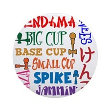 Word Block Round Ornament