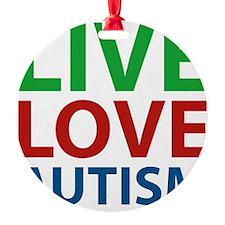 liveLoveAutism1C Ornament