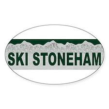 Ski Stoneham, Quebec Oval Decal
