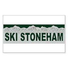 Ski Stoneham, Quebec Rectangle Bumper Stickers