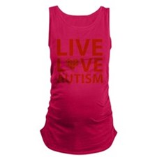 liveLoveAutism2C Maternity Tank Top