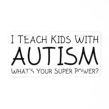 teachKidsAutism1C Aluminum License Plate