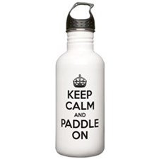 Keep Calm Paddle On Water Bottle