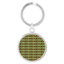 Hole in One Little Red Golf Carts o Round Keychain