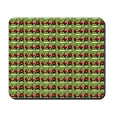 Hole in One Little Red Golf Carts on Blu Mousepad