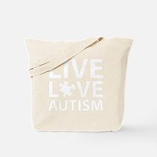 liveLoveAutism3B Tote Bag
