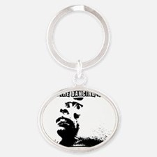 diggin the dancing queen baboon Oval Keychain