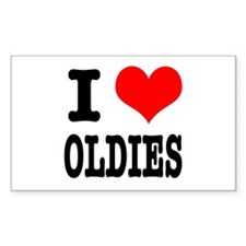 I Heart (Love) Oldies Rectangle Decal