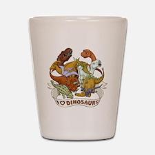 I Heart Dinosaurs Shot Glass