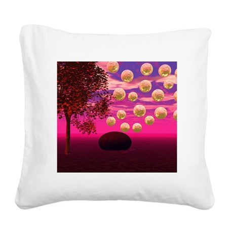 Burst of Joy - Abstract Magen Square Canvas Pillow