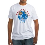 Earth Day ; Melting hot earth Fitted T-Shirt