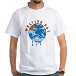 Earth Day ; Melting hot earth White T-Shirt