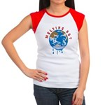 Earth Day ; Melting hot earth Women's Cap Sleeve T