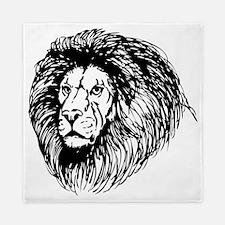 lion - king of the jungle Queen Duvet