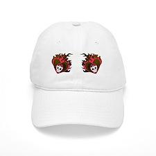 Skull Heart Baseball Cap